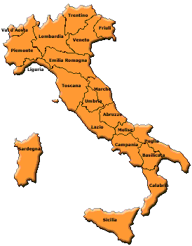 Cartina Regionale dell'Italia